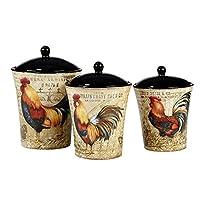 国际认证23656 Gilded Rooster 罐套件(3 件),均码,多色