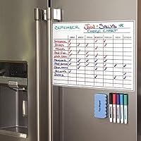 每月磁性冰箱日历 Chore Chart 黑色