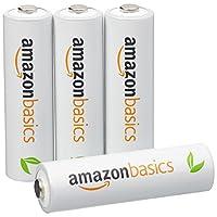 AmazonBasics 亚马逊倍思 4节五号镍氢预充电可充电电池,可循环使用 1000次(进口直采;日本制;标准值:2000mAh,最小值:1900mAh)