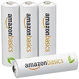 AmazonBasics 亚马逊倍思 4节五号镍氢预充电可充电电池,可循环使用 1000次(日本制;标准值:2000mAh,最小值:1900mAh)