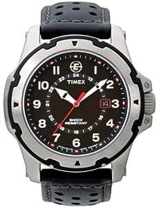 TIMEX 天美时 美国品牌 户外三针系列 石英手表 男士腕表 T49625 (ISO标准抗震 带圆孔透气表带 真皮表带 )