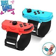 Just Dance 2020 腕带,舞蹈带腕带,适用于 Nintendo Switch,可调节钩环弹性腕带,适用于 Joy Cons 控制器,2 件装