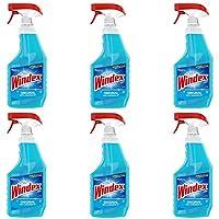 Windex Original Glass and Window Cleaner Spray Bottle, Original Blue, 23 fl oz - Pack of 6