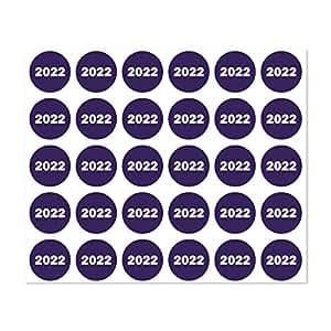 2016 年贴纸标签日历组织安排员 0.75 英寸圆形紫色 1 Sheet 2022 Navy