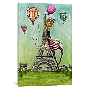 iCanvasART BPR197-1PC3 See The Sights: Paris Canvas Print by Bella Pilar, 0.75 by 18 by 12-Inch