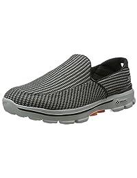 Skechers 斯凯奇 GO WALK 3系列 男 时尚轻质一脚蹬运动健步鞋 53980-1