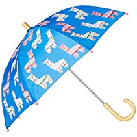 Hatley 女孩印花雨伞蓝色(可爱的羊驼图案 400),均码(尺码:O/S)