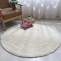 圆形地毯可爱少女公主粉瑜伽垫卧室吊篮藤椅电脑椅梳妆台落地镜垫定制短绒/平 米黄色