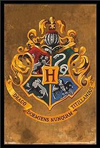 Trends International 墙壁海报 哈利波特 霍格沃茨 Crest 22.375 x 34 FR14428BLK22X34