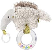 Fehn 搖鈴玩具,搖鈴,用柔軟毛絨動物感知和玩耍,附帶彩色搖鈴 - 適合0個月以上的寶寶和幼兒 Ameisenbär, Australia