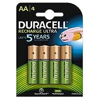 Duracell 充电超型 AA 电池 2500 Mahh,4 个装HR6DX1500 AA Pack of 4