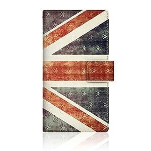 CaseMarket 【手册式】 AQUOS PHONE ZETA (SH-02E) 超薄壳 针脚模型 [英国国旗 珍藏品 大 复古 UK 1927 日记本] SH-02E-VCM2S2312