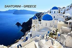 希腊冰箱冰箱冰箱磁铁 City: Santorini-A6