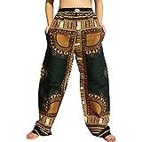 RaanPahMuang 非洲大吉基腰弹力裤腰 Ankara 裤子
