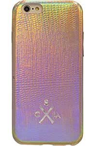 candywirez Case Study Vegan Leather Snap Case for iPhone 6 Plus/6s Plus - Metallic Gold Snake