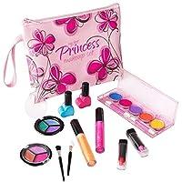 Playkidz 女童 First Princess 可水洗真妆套装 设计师花卉化妆包