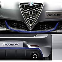 Quattroerre 19969 蓝色轮廓贴纸适用于保险杠全前 + 后部 Alfa Giulietta