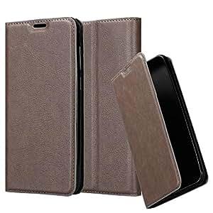 Cadorabo 书包适用于 BQ Aquaris M5 钱包 Etui 封面DE-119717 咖啡棕色