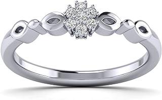 Fehu Jewel 1/10 克拉天然钻石定制订婚戒指适合特殊场合
