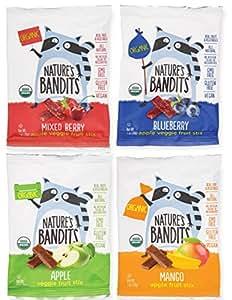 Nature's Bandits Organic Fruit Stix Variety Pack, 1 Box of 16 (1 oz) Bags