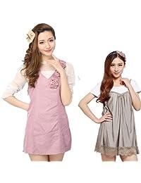 JINBBNET防辐射服银纤维两件套 新款孕妇装 粉红银纤维马甲 银吊带