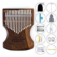 爱德琳卡林巴17音拇指钢琴便携式乐器手指琴简单易学乐器KALIMBA 黑檀木17音