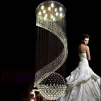 LightInTheBox 现代 LED 水晶螺旋雨滴吊灯嵌入式天花板照明灯具,适用于客厅,走廊 暖白色 S387104500006##wh=7