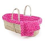 Tadpoles Twisted Fur Moses 篮子和床上用品套装 紫红色