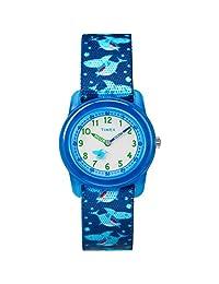 Timex 男童 Unisex-Children Time MachinesTW7C13500  Analog Elastic Fabric 藍色 TW7C135009J watches
