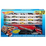 Hot Wheels Mega Hauler 玩具套装,带 20 辆 Hot Wheels 汽车(汽车样式可能有所不同)