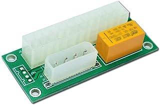 2 件装双 PSU 多电源适配器,add2psu ATX 24针至 Molex 4针连接器(2 件)