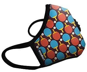 Vogmask N99CV时尚儿童防雾霾口罩/pm2.5防雾霾口罩Ping Pong(超级乒乓)1只 多色 S号(3-7岁儿童20-50磅/11-22公斤)(进口)