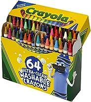 Crayola 绘儿乐 绘画工具 超清洁耐洗蜡笔 64色装 带卷笔刀 52-3287