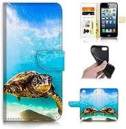 iPhone 8 Plus,iPhone 7 Plus,设计翻盖钱包手机壳,A21911 蓝海龟21911