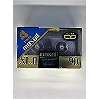 Maxell(R) Cassette 音频胶带,90 分钟高偏距标准,4 件装(制造商已停产)