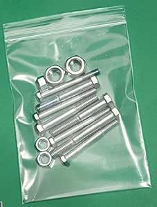 4 英寸 x 6 英寸 4 Mil 拉链聚乙烯袋可重封塑料袋(10 厘米 x 15 厘米)(100 件装) 白色 6X9