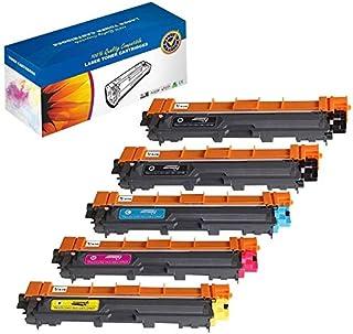 K-Ink 兼容硒鼓替换装 适用于兄弟 TN221 TN225 B/C/M/Y(2 黑色,1 青色,1 洋红色,1 黄色)