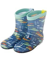 Ogawa 小川 儿童雨靴 L 19cm Kooka Hippo 小鱼图案 83193