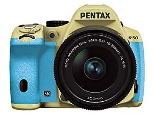 Pentax 宾得 K-50/DA L 18-55mm F3.5-5.6AL WR防水镜头单反套机(沙米色机身 浅绿色手柄)061