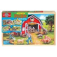 T.S. Shure 乡村农场 4 大拼图,木质盒装
