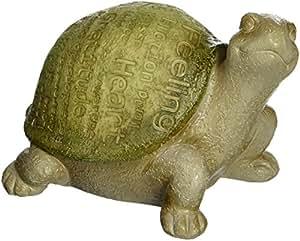 Angelstar 12505 鼓励词语花园乌龟雕像,19.05 cm 长,绿色