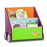 莱贝比labebe书架收纳盒小孩简易书柜儿童玩具收纳柜 (猫头鹰书柜)