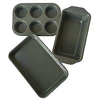 casaWare 烤箱 3 件套 银色花岗岩 1-9905-5K