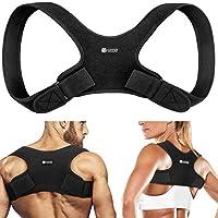 铜质压缩姿势矫正器,男女适用 - *高铜背支撑姿势矫正器。 可调节矫直器支撑肩部和上背,呈现正确的姿势 小号/中号 1.00