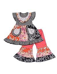 Yawoo Haan 女童夏季连衣裙七分裤套装婴儿 2 件套衣服