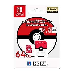 任天堂许可商品精灵宝可梦 microSD卡 适用于任天堂Switch 64GB 怪兽球【支持任天堂Switch】