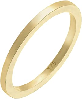 Elli Premium Basic 375 Yellow Gold Women's Ring 925 Sterling Silver - 0608731315