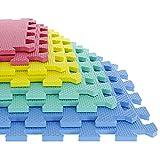 TG 8 Piece Multi-Color Eva Foam Exercise Mat (Medium)