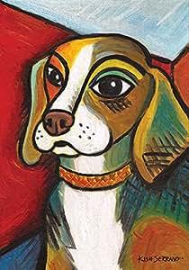 Toland Home Garden Pawcasso Beagle 12.5 x 18 Inch Decorative Puppy Dog Portrait Garden Flag