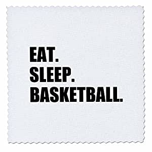 qs_180384 InspirationzStore Eat Sleep 系列 - Eat Sleep Basketball - 有关团队运动的热情-运动球游戏 - 方形被子 6x6 inch quilt square qs_180384_2